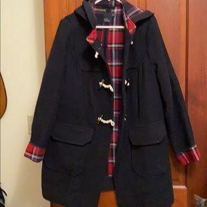 Women's classic wool toggle coat